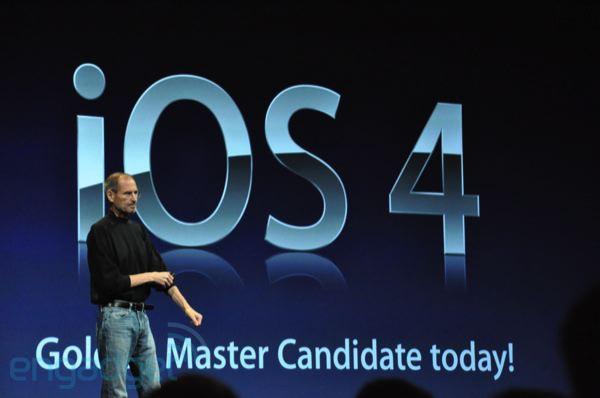 Steve Jobs announcing Apple iOS 4